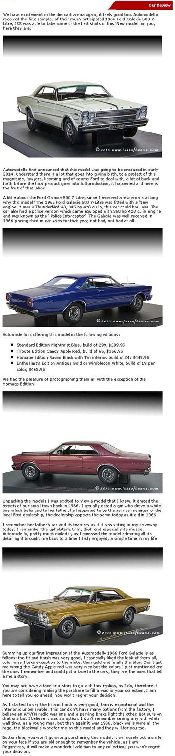 1966 Ford Galaxie 500 7-Litre Hardtop in Nightmist Blue 1:24 Barn